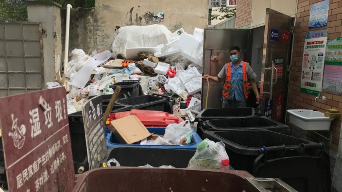 Müll in Shanghai