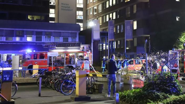 Brand im Marien Hospital Düsseldorf