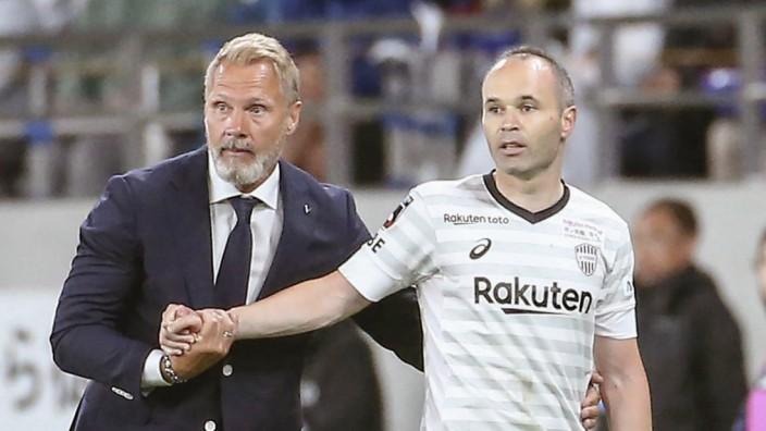 Football FC Tokyo v Vissel Kobe Vissel Kobe s new coach Thorsten Fink L substitutes Andres Inies