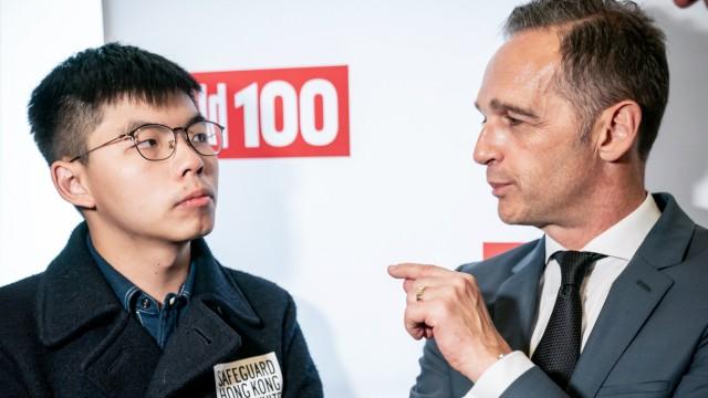 Hongkong-Aktivist Joshua Wong und Außenminister Heiko Maas 2019 in Berlin