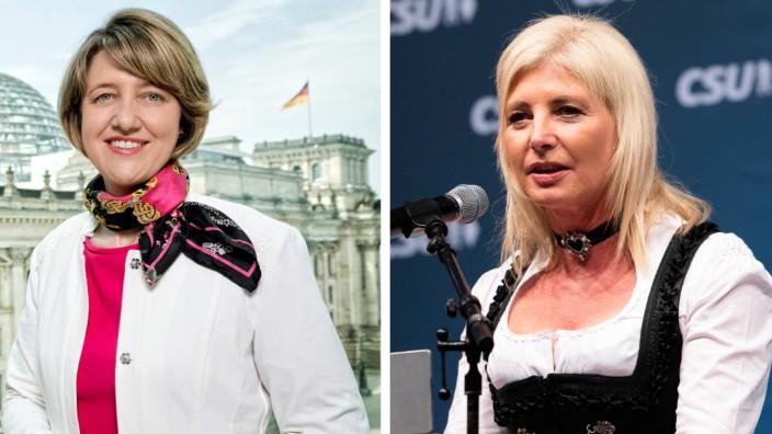 Anja Weisgerber (links) und Ulrike Scharf bewerben sich um die Nachfolge von Angelika Niebler an der Spitze der Frauen-Union.