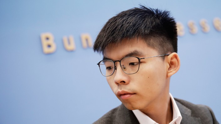 Joshua Wong, Pro-Democracy Activist In Hong Kong, Visits Germany