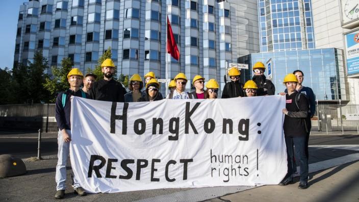 Protest vor der chinesischen Botschaft