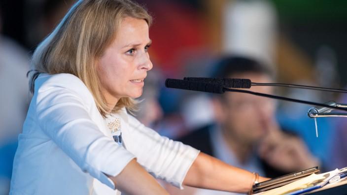 Corinna Miazga punktete in Greding mit einer ruhigen Rede.