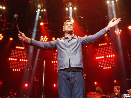 robbie williams comeback konzert london