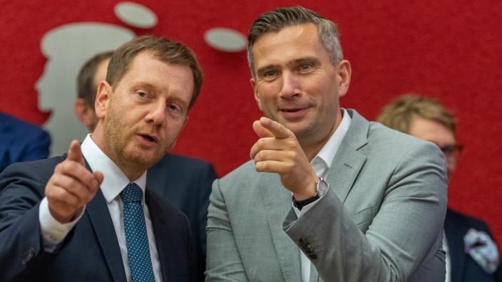 Beginn der Sondierungsgespräche in Sachsen