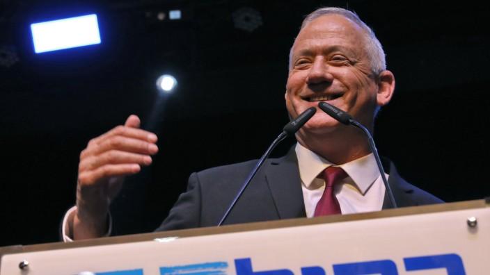 Netanjahus Rivale Benny Gantz: Gleichauf mit dem Amtshinhaber: Benny Gantz.