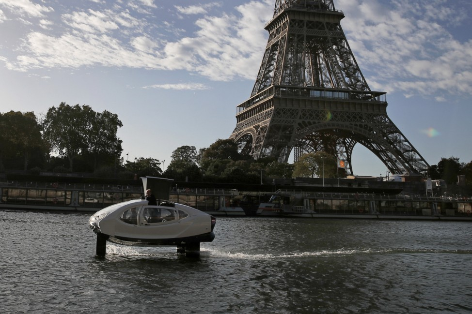 SeaBubbles testet Wassertaxi in Paris