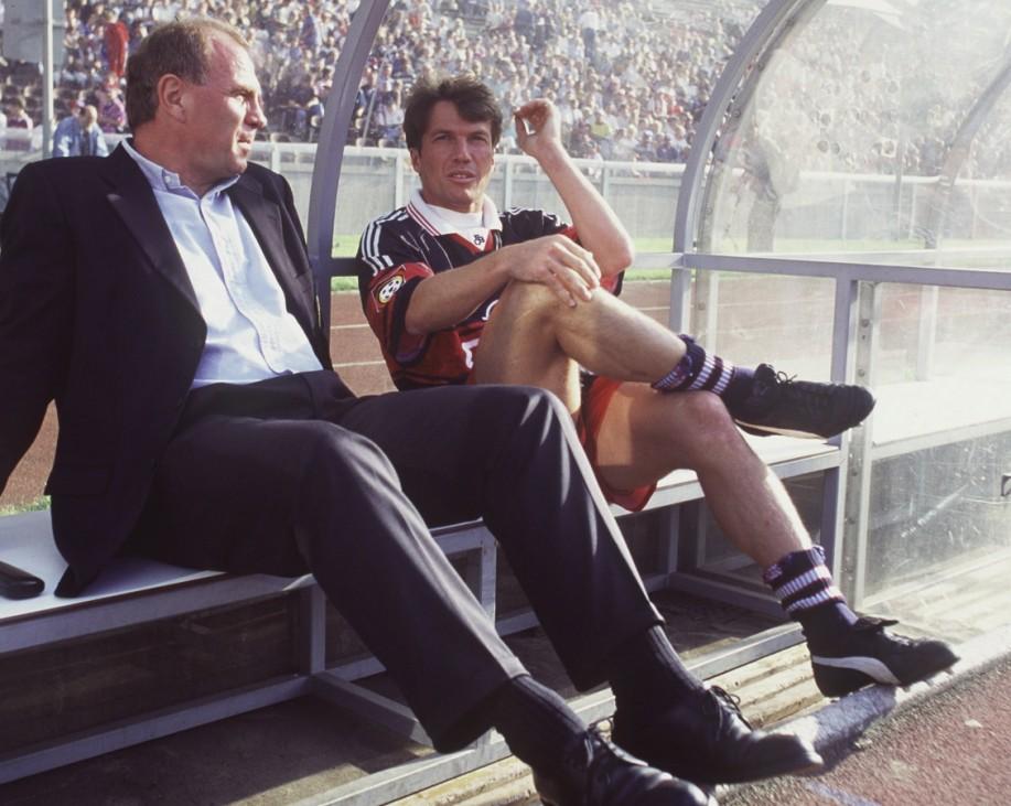 Fussball: Opel Masters 1997; Uli Hoeneß und Lothar Matthäus