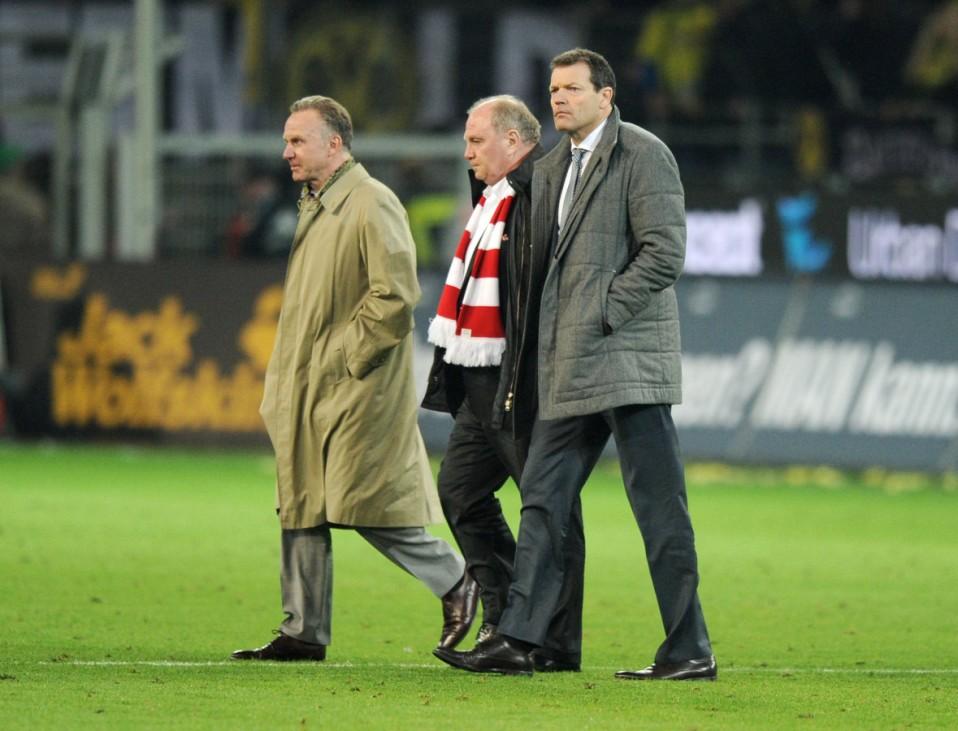 Uli Hoeneß und Karl-Heinz Rummenigge gegen Dortmund 2012