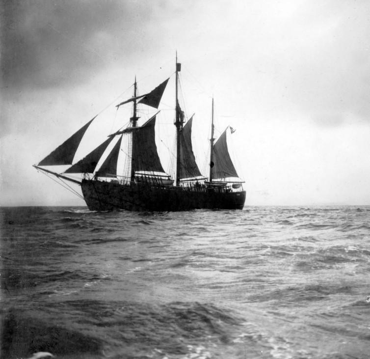 "Expeditionsschiff ""Fram"" des  Polarforschers Fridtjof Nansen"