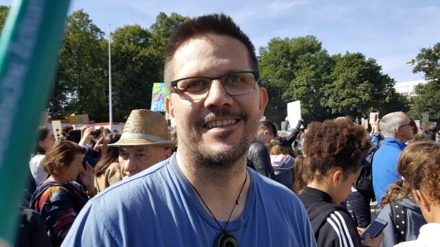 Torsten Müller  bei der Klima-Demo in München - Umfrage