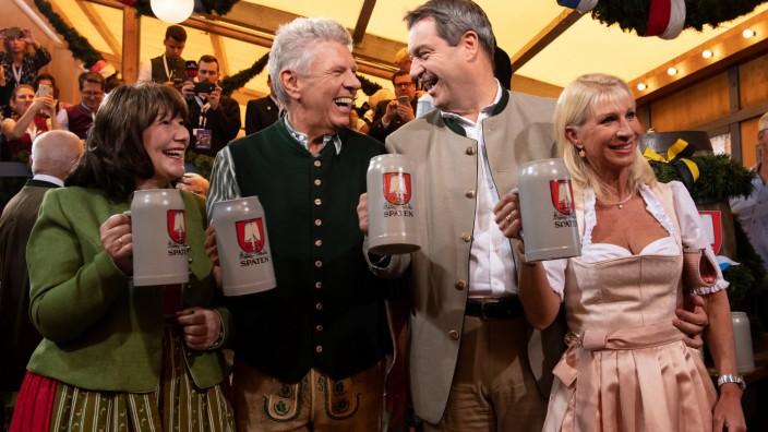 Dieter Reiter und Markus Söder beim Anstich des Oktoberfests 2019.