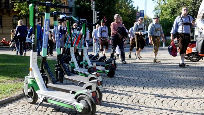 E-Scooter auf dem Oktoberfest