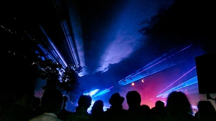 Kurparkfest - Lasershow