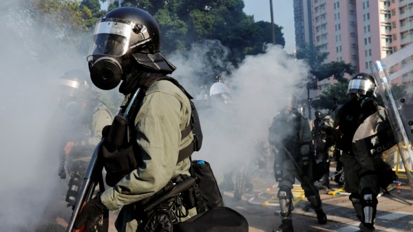 Protests as Hong Kong marks the 70th anniversary of the founding of the People's Republic of China