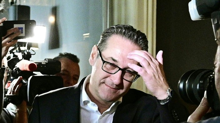 Österreich: Der ehemalige FPÖ-Vorsitzende Heinz-Christian Strache nach der Parlamentswahl