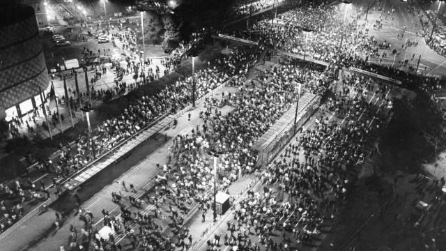 Montagsdemonstration in Leipzig, 1989