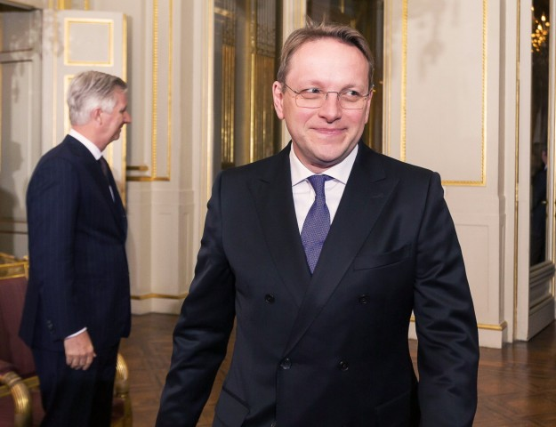 Oliver Varhelyi pictured during a New Year s reception organized by the Royal Family at the Royal Pa