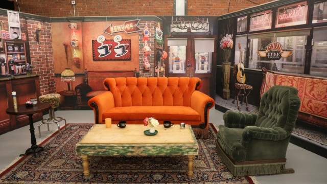 A set scene from the television series 'Friends' is seen at the 'Friends' pop-up store marking the 25th anniversary of the television series in New York City