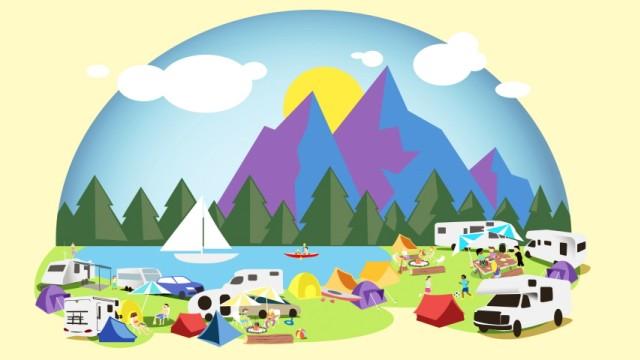 Illustration Camping Mobiles Leben ET 5.10.2019