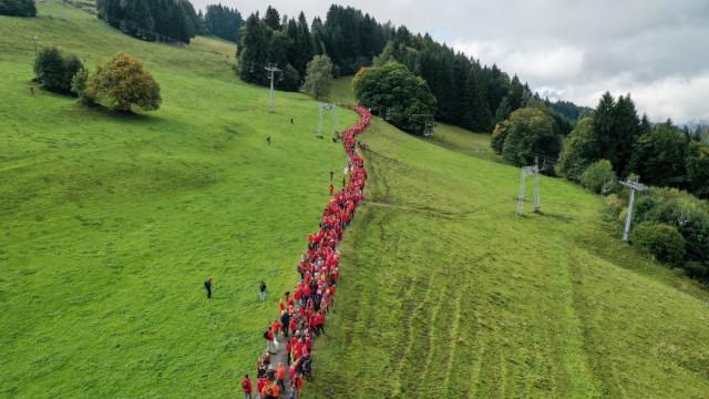 Proteste gegen Bergbahnprojekt am Grünten im Allgäu