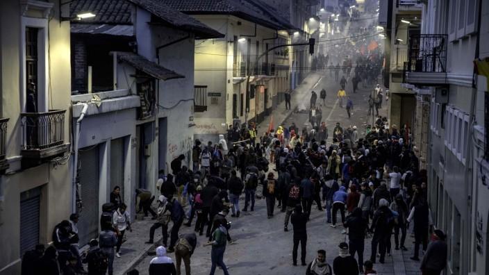 Burning Tires Block Roads As Ecuador Declares State Of Emergency