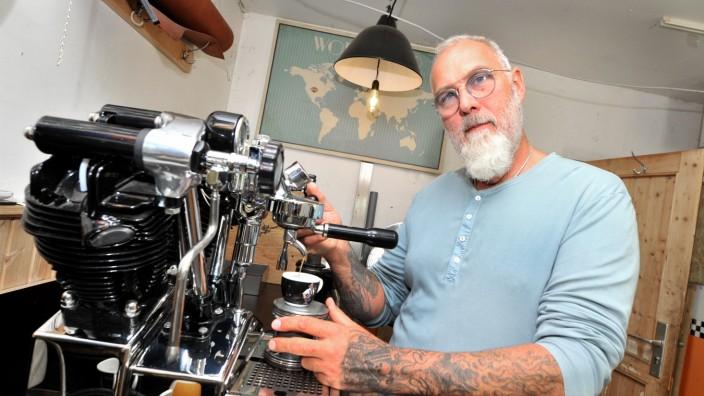 Pöcking: Cafe Racer: 'Da Vincie' Erbauer Manfred Buchner