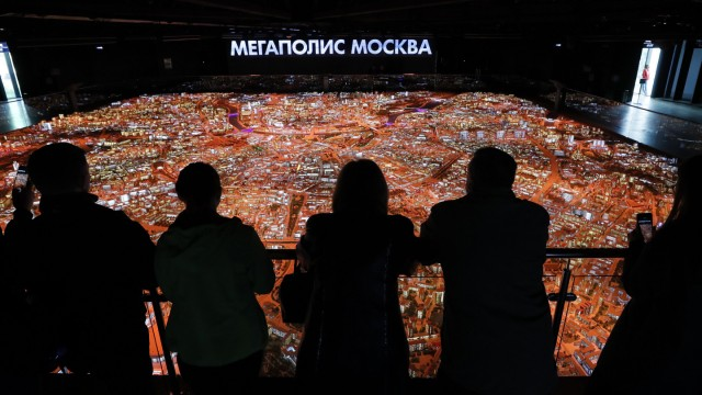 Interactive model of Moscow, Russian Federation - 17 Sep 2019