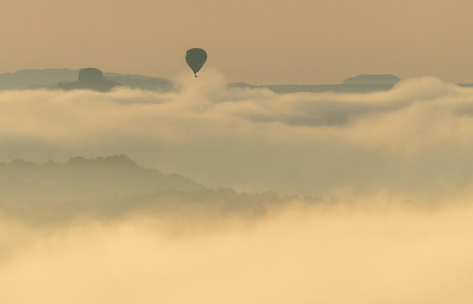 Morgennebel in der Sächsischen Schweiz