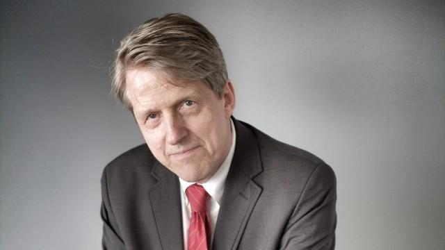 Oekonomie-Nobelpreistraeger Robert J. Shiller - Aufgenommen im 19. OG Axel Springer AG
