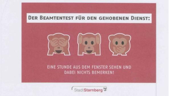Die Stadt Starnberg versucht mit Beamtenwitzen Mitarbeiter zu gewinnen.