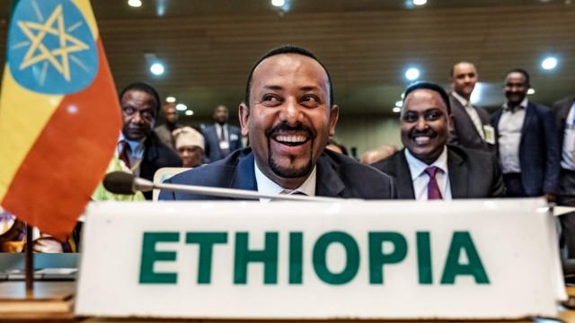 Abiy Ahmed, Premierminister von Äthiopien 2019 in Addis Abeba