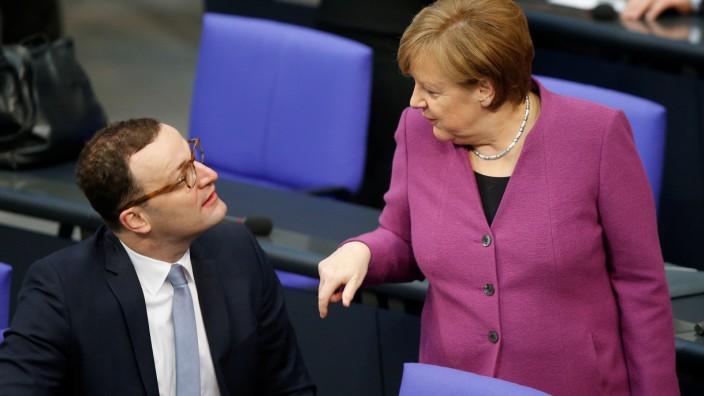 Chancellor Angela Merkel addresses the German parliament on the upcoming EU summit