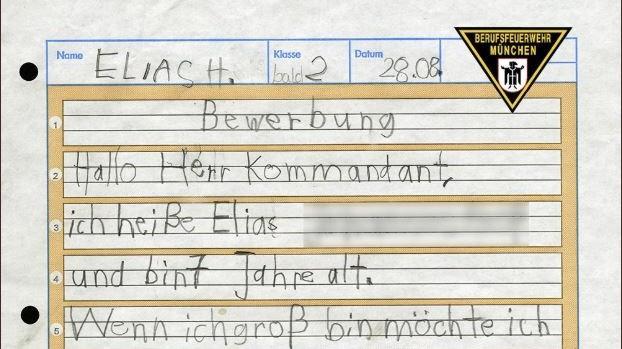 München: Siebenjähriger bewirbt sich bei der Feuerwehr