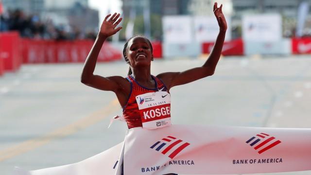 Chicago Marathon - Kenya's Brigid Kosgei wins the women's marathon setting a new world record
