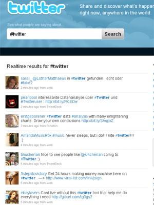 Twitter-Startseite