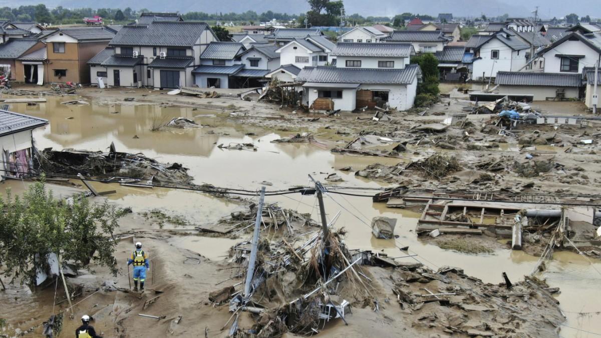 Taifun in Japan: Mehr als 60 Menschen kommen ums Leben