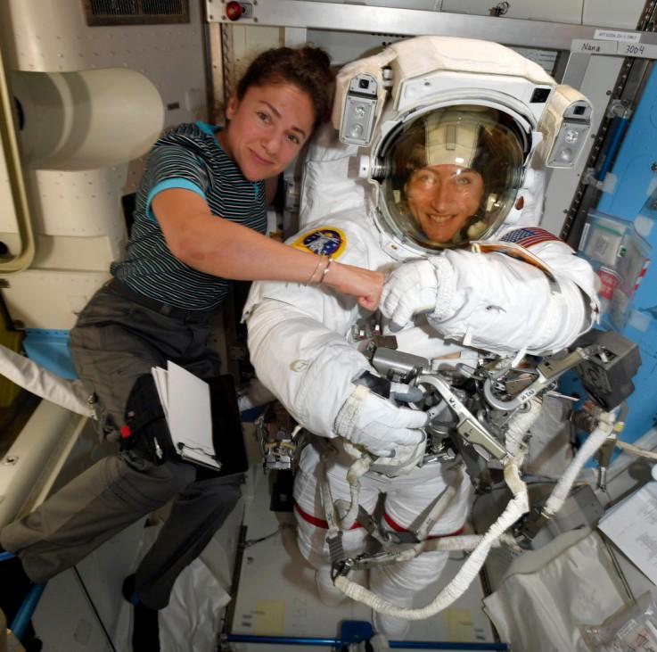Astronautinnen auf der ISS