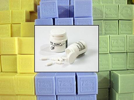 grüne Produkte/Pillen-Seife