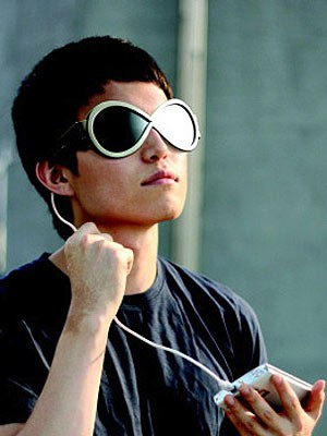 Grüne Produkte Sonnenbrille mit Solargläsern