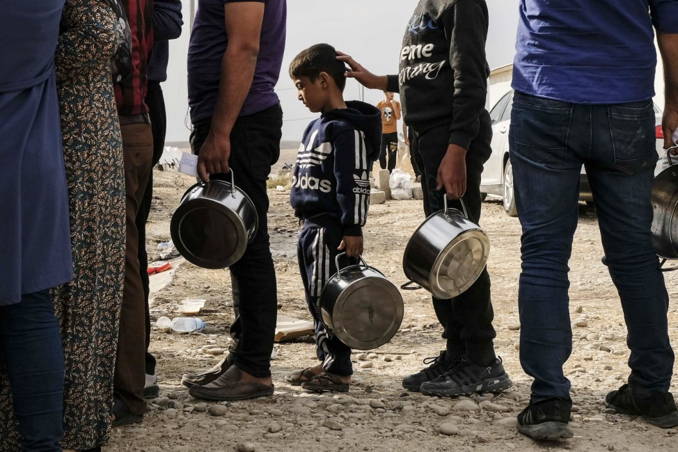 BESTPIX - Syrian Refugees Arrive In Iraqi Kurdistan Following Turkish Campaign