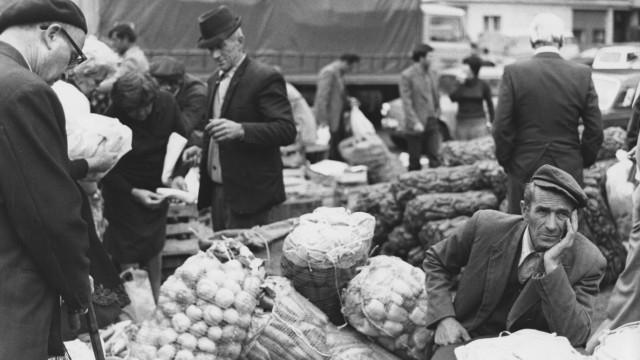 Markt in Belgrad, 1980