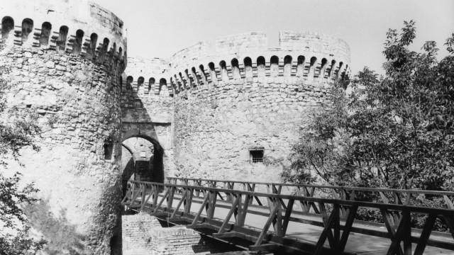 Burganlage in Belgrad, 1980er