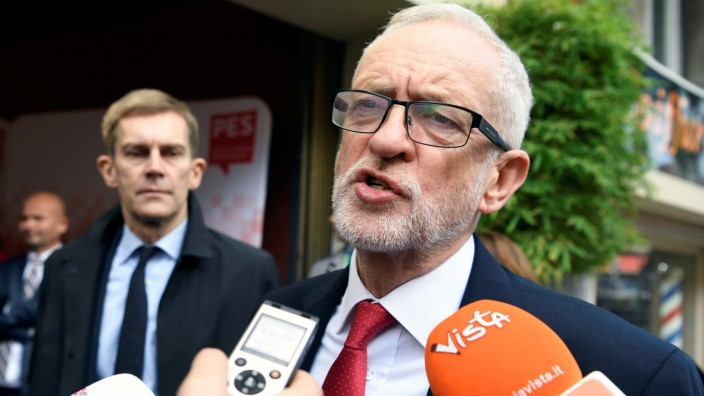 Labour-Chef Jeremy Corbyn in Brüssel