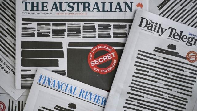 Australien: Protestaktion von Zeitungen gegen Einschränkungen der Pressefreiheit