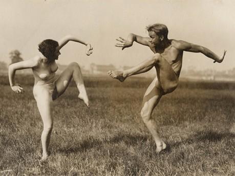 Gerhard Riebicke, Paar beim Ausdruckstanz, um 1925