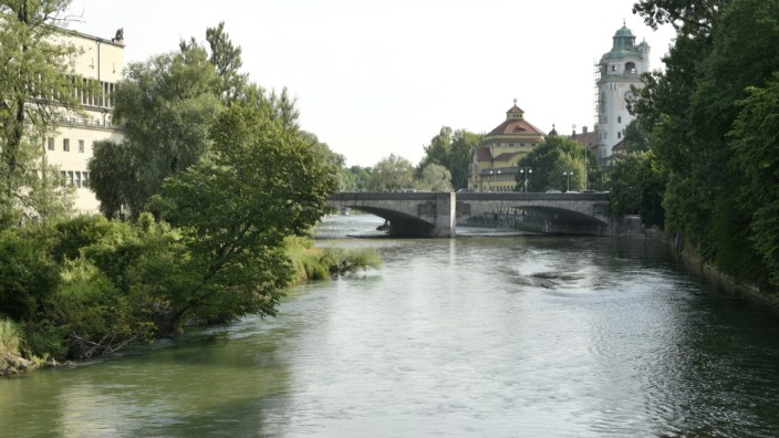 Ludwigsbrücke in München, 2019