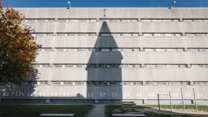 Der Innenhof der Justizvollzugsanstalt Stadelheim