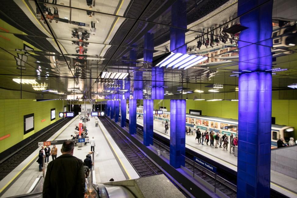 U-Bahnhof Münchner Freiheit in München, 2019